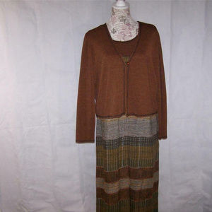 Carole Little 12 Dress & Jacket Cardigan Two Piece